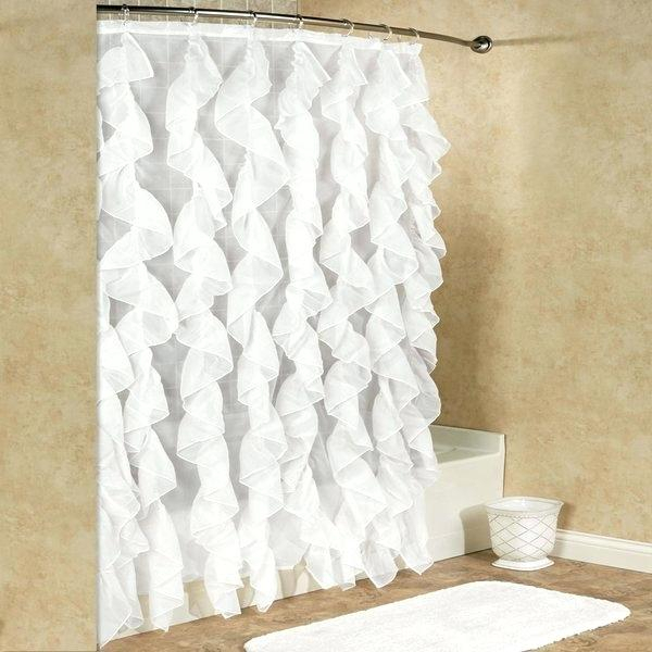 Waterfall Ruffle Curtain – Daivietgroup With Navy Vertical Ruffled Waterfall Valance And Curtain Tiers (View 9 of 25)