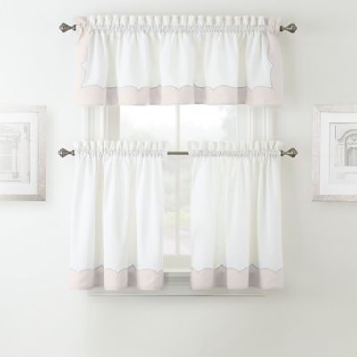 """Waterford Cassia 36"""" Window Tier Pair In Pink 
