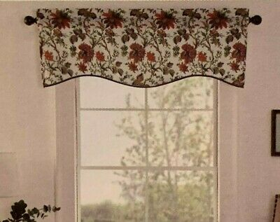 Waverly Felicite Curtain Valance Jacobean Floral Pattern For Waverly Felicite Curtain Tiers (View 5 of 25)