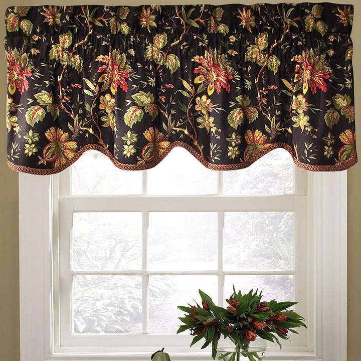Waverly Felicite Rod Pocket Valance | Red Kitchen In 2019 Pertaining To Waverly Felicite Curtain Tiers (View 3 of 25)