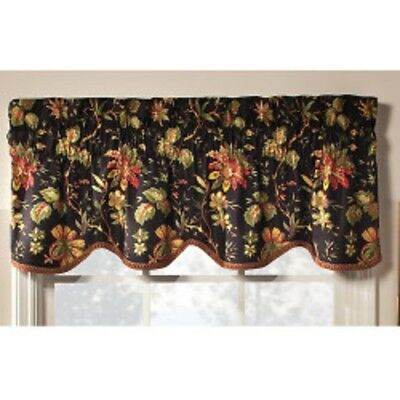 Waverly Felicite Single Scalloped Window Valance 50Inx15In Throughout Waverly Felicite Curtain Tiers (View 9 of 25)