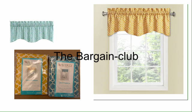 Waverly Lovely Lattice 16 In Cotton Rod Pocket Valance Yellow Or Teal,onyx, Blue With Regard To Rowley Birds Valances (View 18 of 25)