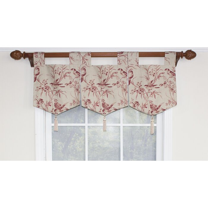 Weist Aviary Toile Banner Curtain Valance With Regard To Aviary Window Curtains (View 12 of 25)