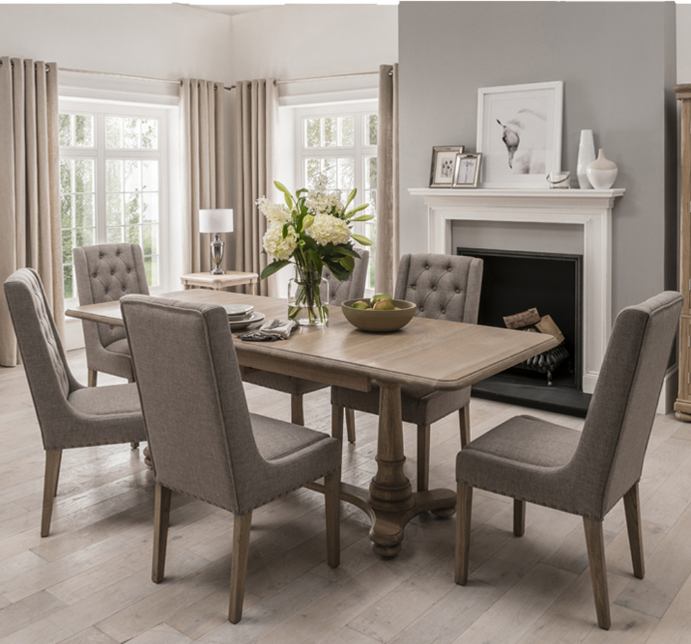 Wellington Extending Dining Table & 6 Chairs With Most Popular James Adjustables Height Extending Dining Tables (Image 25 of 25)