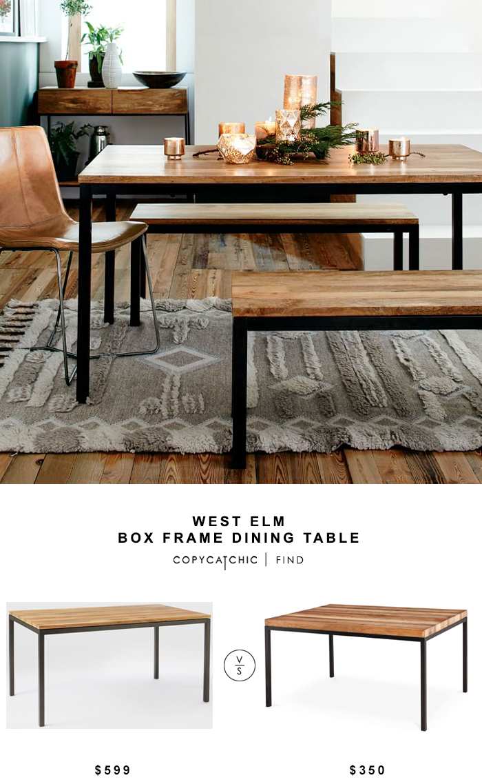 West Elm Box Frame Dining Table – Copycatchic Inside Most Recent West Dining Tables (View 7 of 25)