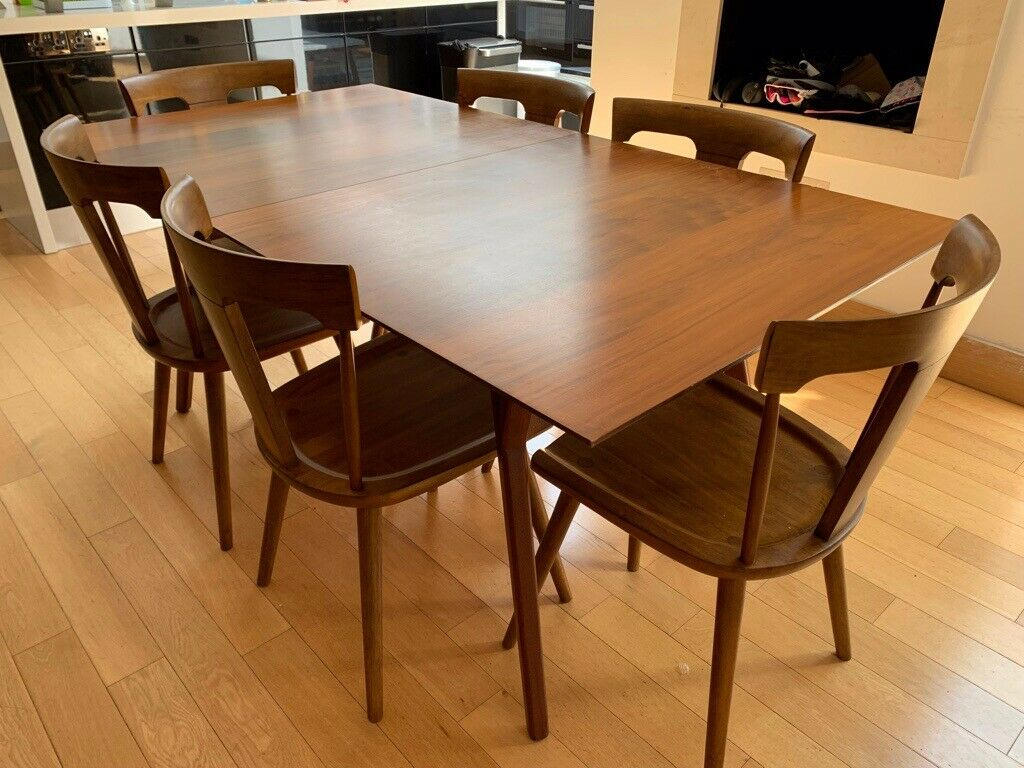 West Elm Mid Century Expandable Dining Table | In Muswell Hill, London | Gumtree Within 2017 West Dining Tables (View 5 of 25)