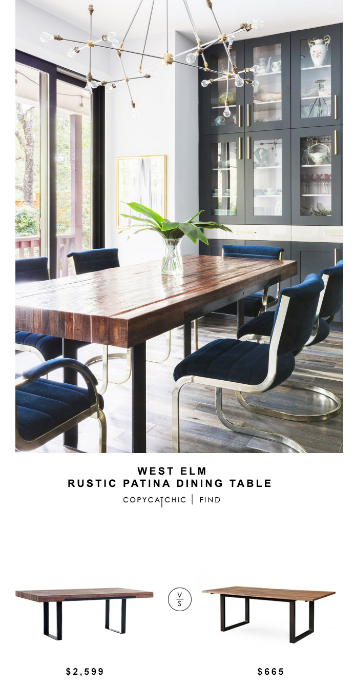 West Elm Rustic Patina Dining Table – Copycatchic Inside 2017 West Dining Tables (Image 22 of 25)
