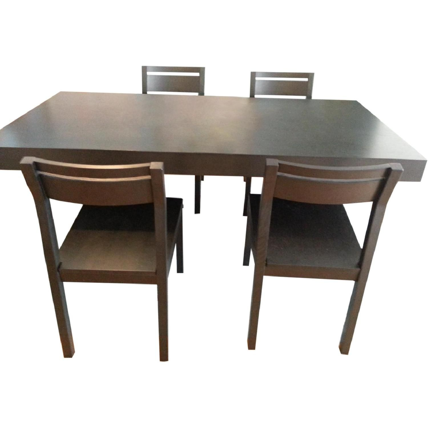 West Elm Terra Dining Table W/ 4 Chairs | Dining Table For Recent West Dining Tables (Image 23 of 25)