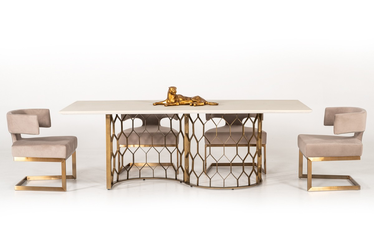 White – Best Modern Dining Tables In Modern Miami Furniture In Most Recent Faye Extending Dining Tables (View 7 of 25)