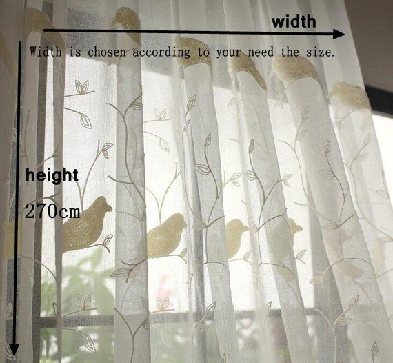 White Birds Curtains Fabric, Window Curtains Fabric For Diy Pertaining To Ivory Knit Lace Bird Motif Window Curtain (Image 22 of 25)