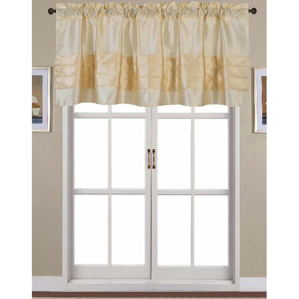 White Box Pleat Valance | Wayfair Within Waverly Kensington Bloom Window Tier Pairs (View 21 of 25)