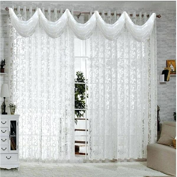 White Curtains For Kitchen – Mekomee For Luxurious Kitchen Curtains Tiers, Shade Or Valances (View 25 of 25)