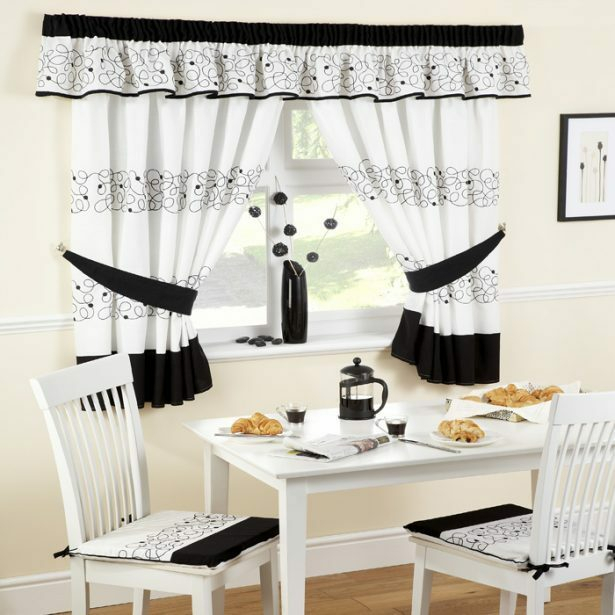 White Kitchen Curtains – V9Oj Intended For Cotton Classic Toast Window Pane Pattern And Crotchet Trim Tiers (View 8 of 25)