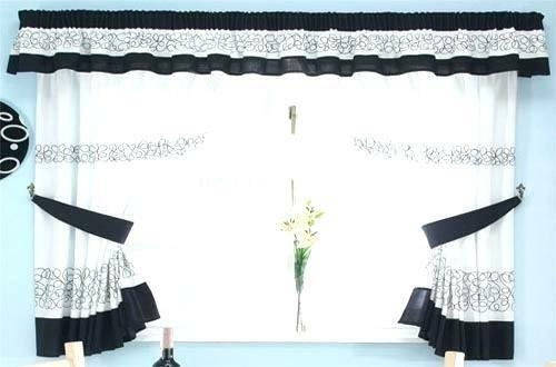 White Kitchen Curtains – V9Oj With Regard To Solid Microfiber 3 Piece Kitchen Curtain Valance And Tiers Sets (View 21 of 25)