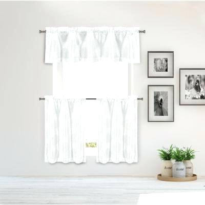 White Kitchen Valance – Mtroomlent With Light Filtering Kitchen Tiers (View 11 of 25)