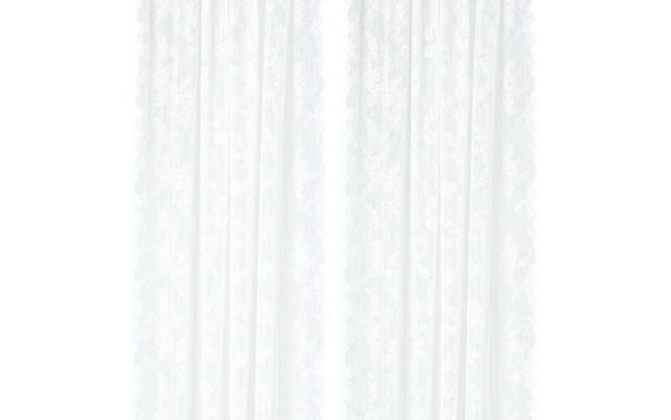 White Knit Lace Bird Motif Window Curtain Tiers Valance And Within White Knit Lace Bird Motif Window Curtain Tiers (View 21 of 25)
