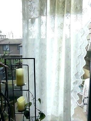White Lace Curtain Panels – Tmss (Image 23 of 25)