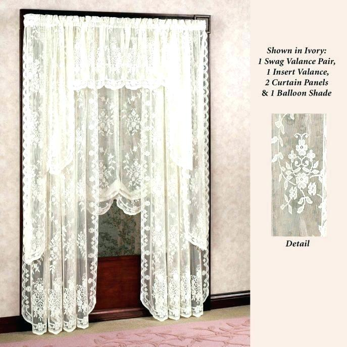 White Lace Curtain Panels – Tmss (Image 24 of 25)