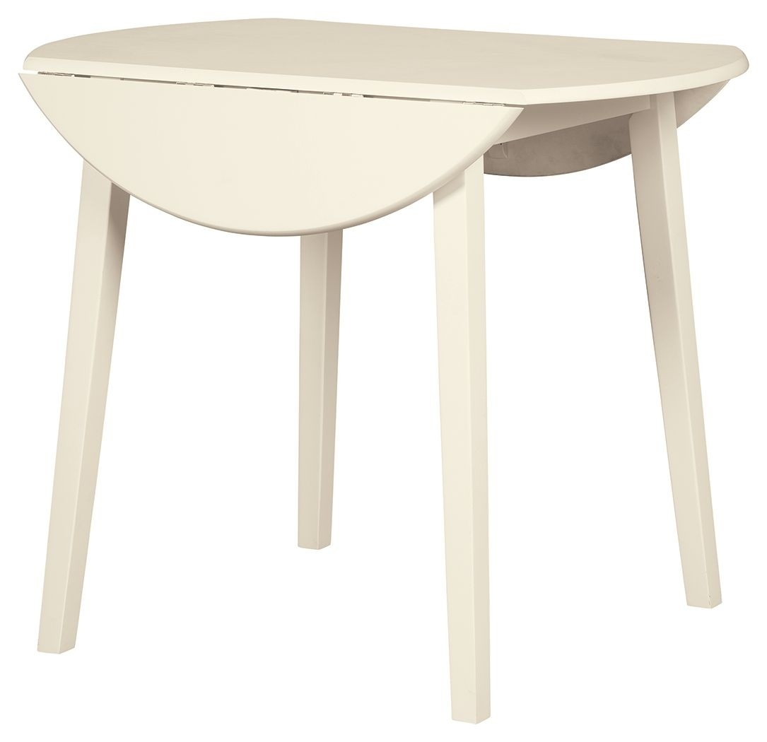 White Round Drop Leaf Table – Martinique Inside Most Popular Antique White Shayne Drop Leaf Kitchen Tables (View 16 of 25)