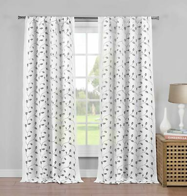 "White Semi Sheer Curtains Moroccan Panels Bedroom 54"" W X 84 With White Micro Striped Semi Sheer Window Curtain Pieces (Image 25 of 25)"