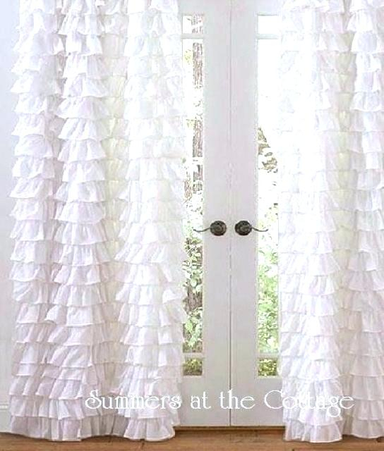 White Shabby Chic Curtains Romance Curtain Panel – Udbhavah (View 17 of 25)