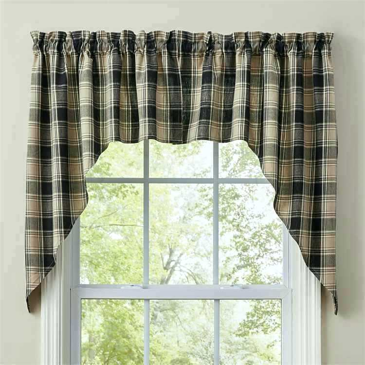 White Swag Kitchen Curtains Valances Swags Windows Stunning Inside Primitive Kitchen Curtains (View 8 of 25)