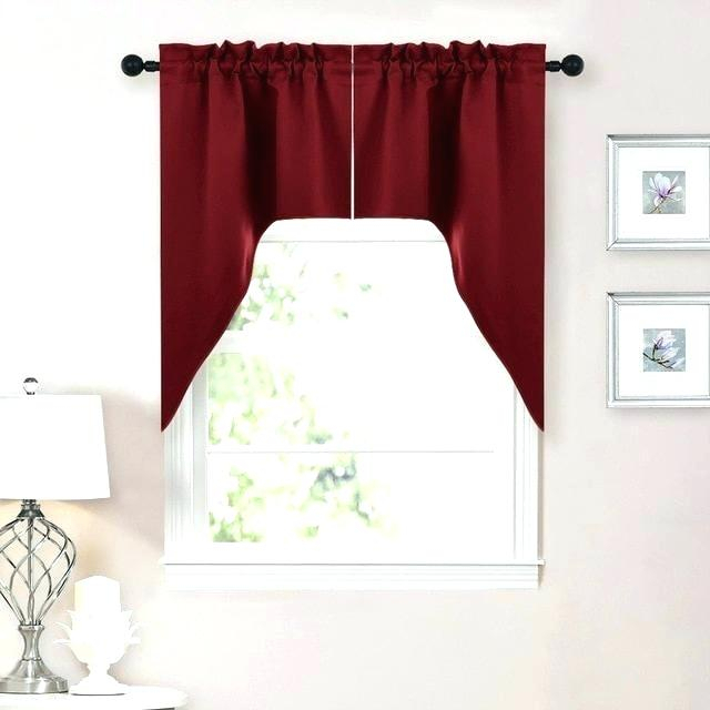White Tier Curtains Bathroom Decorating Christmas Cookies Inside Modern Subtle Texture Solid Red Kitchen Curtains (View 24 of 25)