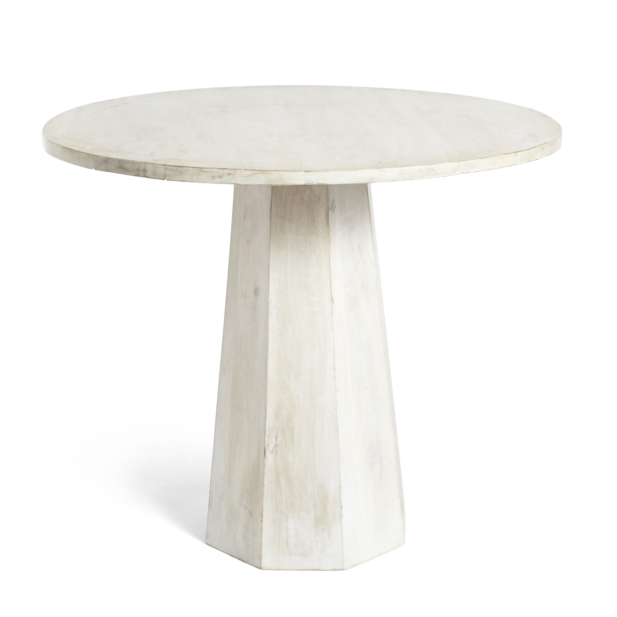 Whitewashed Pedestal Side Table | Products In 2019 Intended For Current Warner Round Pedestal Dining Tables (View 10 of 25)