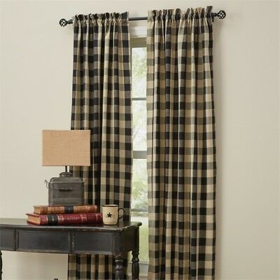 Wicklow Garnet Red Check 84 X 72 Curtains : Country Tan Pertaining To Grandin Curtain Valances In Black (View 20 of 25)