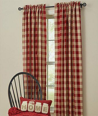 Wicklow Garnet Red Check 84 X 72 Curtains : Country Tan Regarding Dove Gray Curtain Tier Pairs (View 21 of 25)