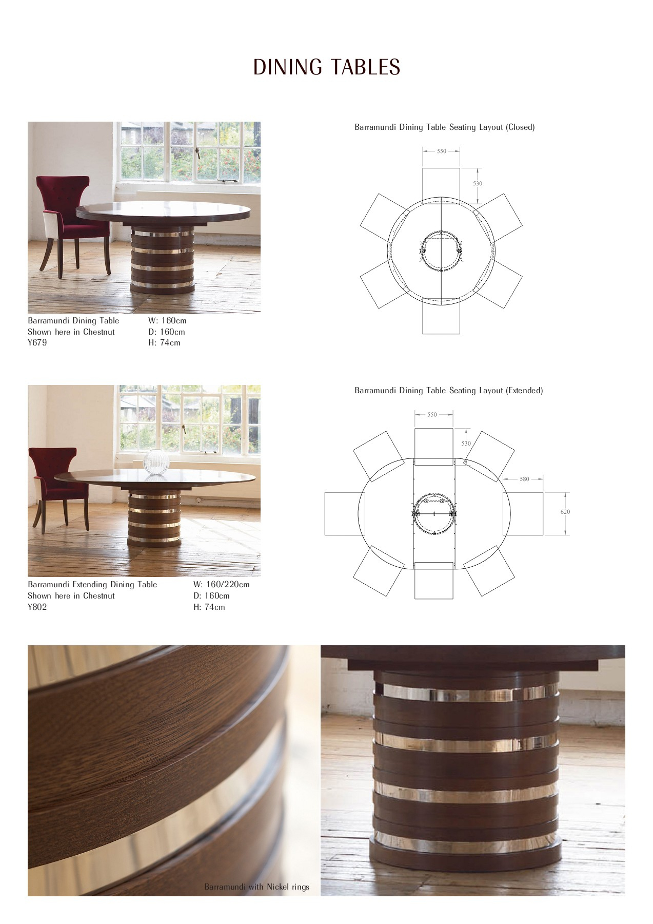 William Yeoward Bespoke & Upholstery Furniture S17 Pages 1 Pertaining To Most Popular Ingred Extending Dining Tables (View 21 of 25)