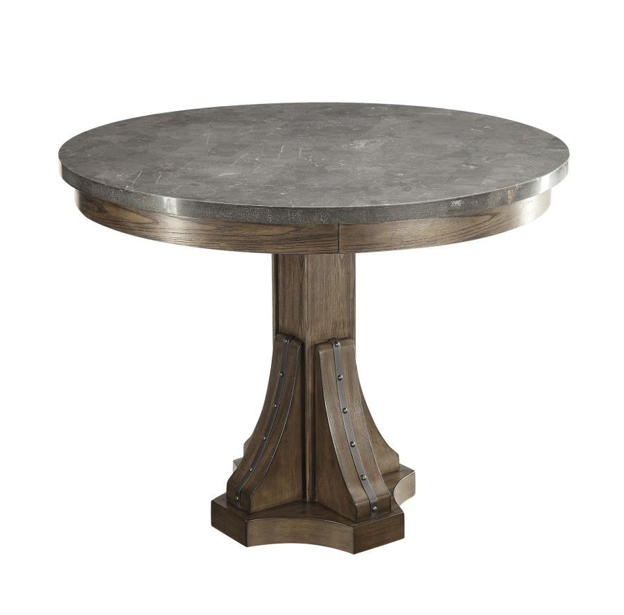 Willowbrook Collection – Willowbrook Rustic Chinese Ash Round Dining Table Intended For Current Chapman Round Marble Dining Tables (View 21 of 25)