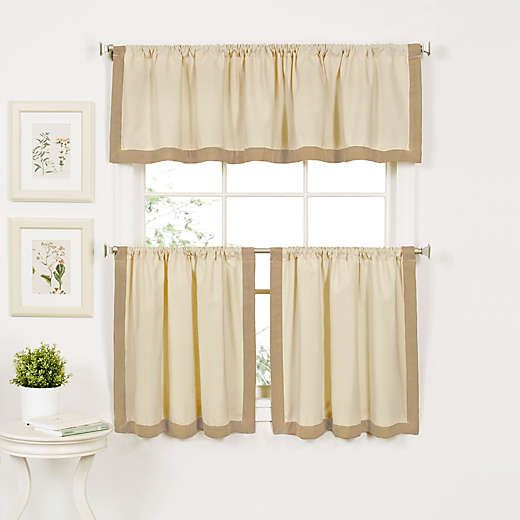 Wilton Window Curtain Tier Pairs | Rita | Kitchen Curtains Inside Oakwood Linen Style Decorative Window Curtain Tier Sets (View 5 of 25)