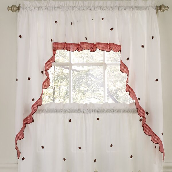 Window Curtain Swags | Wayfair With Embroidered Ladybugs Window Curtain Pieces (View 5 of 25)