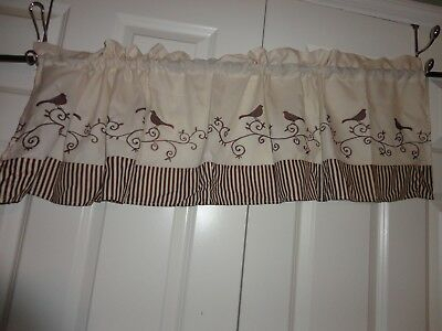 "Window Treatment Chf Bird Tailored Kitchen Curtain Valance 57"" X 14"" 