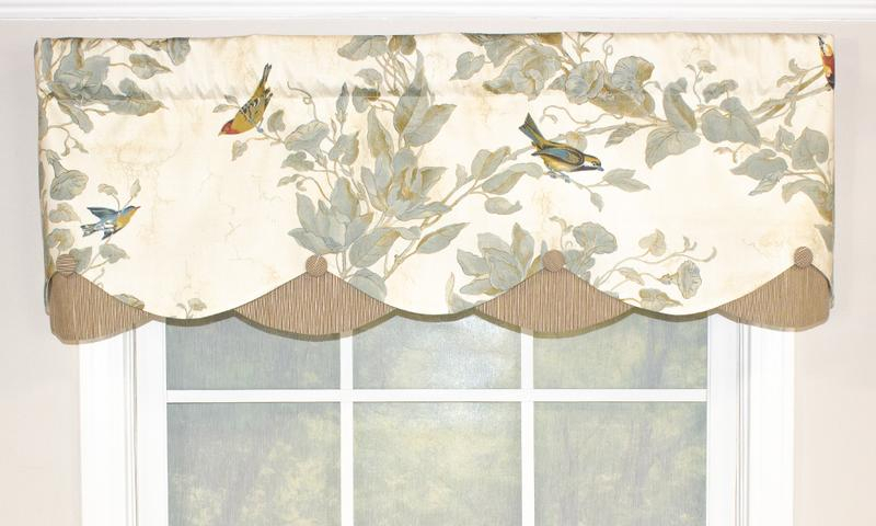 Windsong Petticoat Valance | Rlf Home With Regard To Aviary Window Curtains (View 23 of 25)