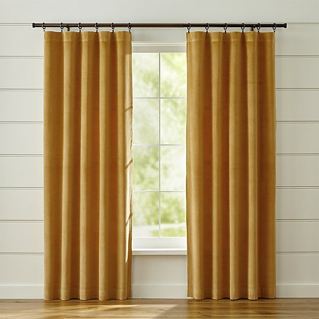 Windsor Blue Velvet Curtains | Crate And Barrel In 2019 Throughout Modern Subtle Texture Solid Red Kitchen Curtains (View 16 of 25)