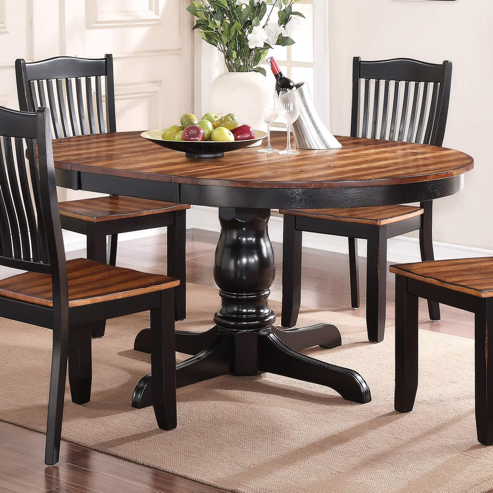 25 Collection Of Rustic Brown Lorraine Pedestal Extending