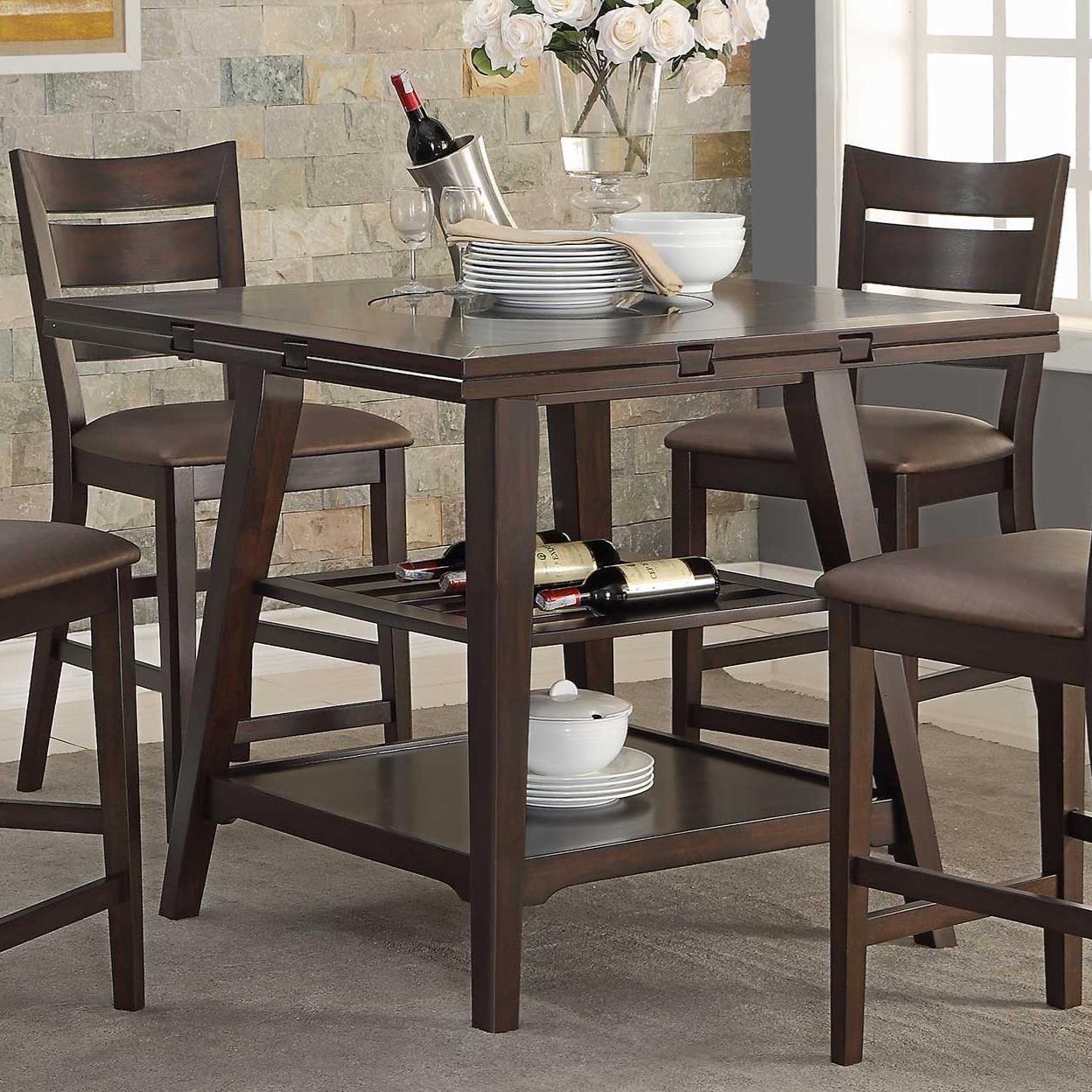 Winners Only Parkside Drop Leaf Counter Height Table With Within Recent Carson Counter Height Tables (View 18 of 25)