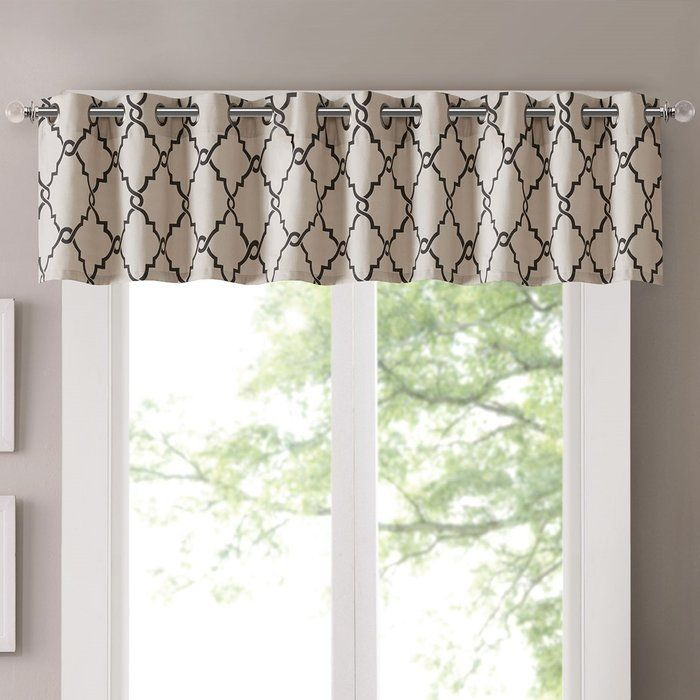Winnett Light Filtering 50 Curtain Valance In 2019 Intended For Light Filtering Kitchen Tiers (View 3 of 25)