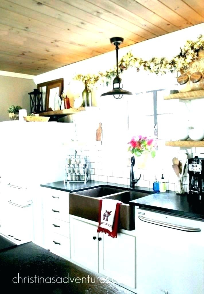 Wonderful Rustic Farmhouse Kitchen Curtains Sink Nawala Tile Pertaining To Farmhouse Kitchen Curtains (View 9 of 25)