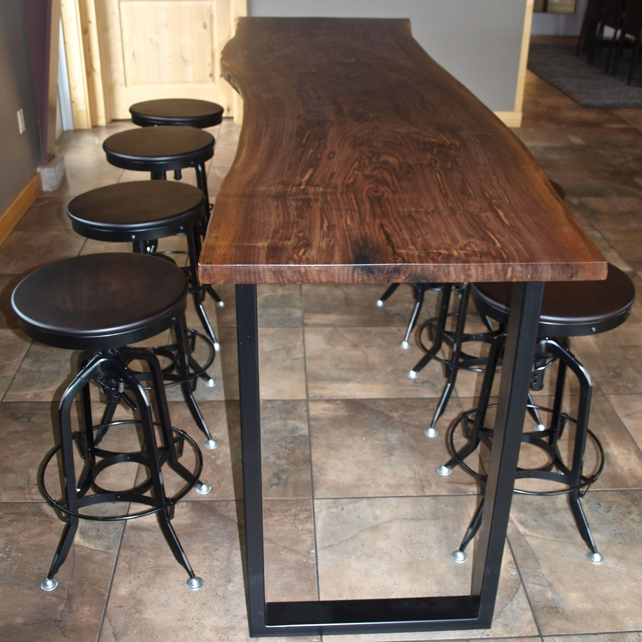 Wood Bar Table | 2.rcfl.spider Web (View 9 of 25)