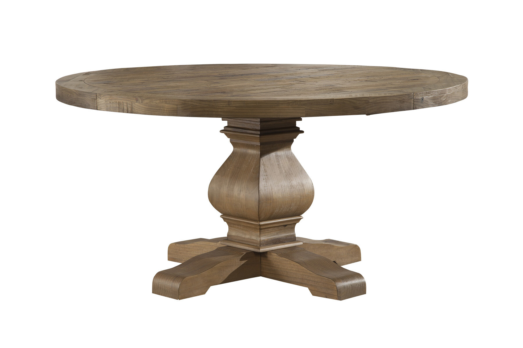 Wood Pedestal Dining Table Images – Dining Table Set Designs Throughout Most Recently Released Driftwood White Hart Reclaimed Pedestal Extending Dining Tables (Image 21 of 25)