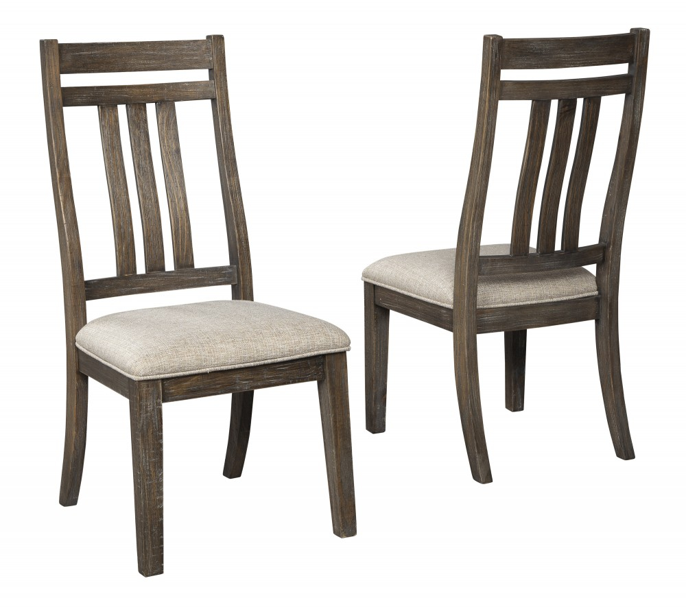 Wyndahl – Rustic Brown – Dining Uph Side Chair (2/cn) With Most Current Griffin Reclaimed Wood Dining Tables (View 25 of 25)