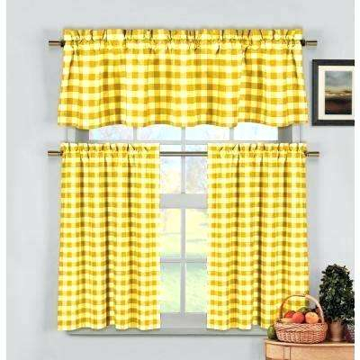 Yellow Gingham Curtains – Sonderflat (View 13 of 25)