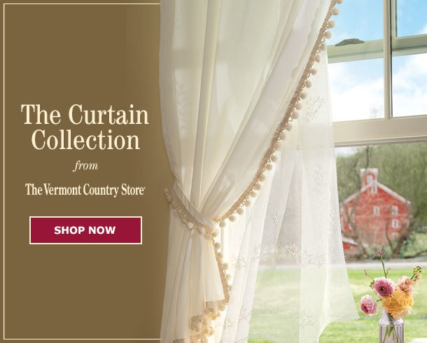 Your Favorite Country Curtains Now At The Vermont Country Store Intended For Floral Blossom Ink Painting Thermal Room Darkening Kitchen Tier Pairs (View 14 of 25)
