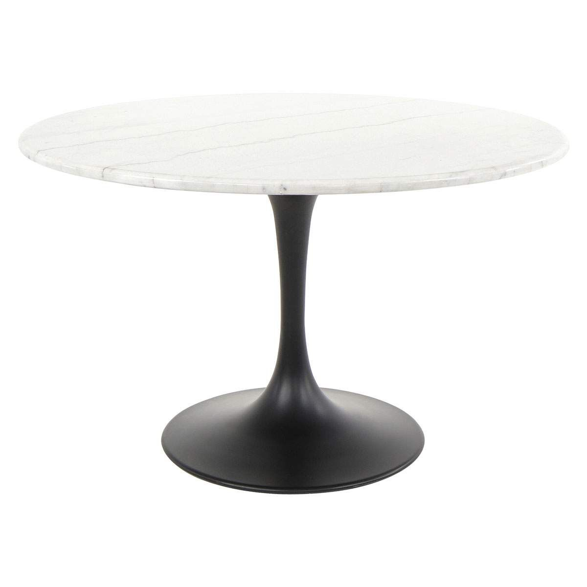 Zola Round Dining Table In Marble | Jerome's Furniture | 909 Throughout Most Recent Chapman Marble Oval Dining Tables (Photo 4 of 25)