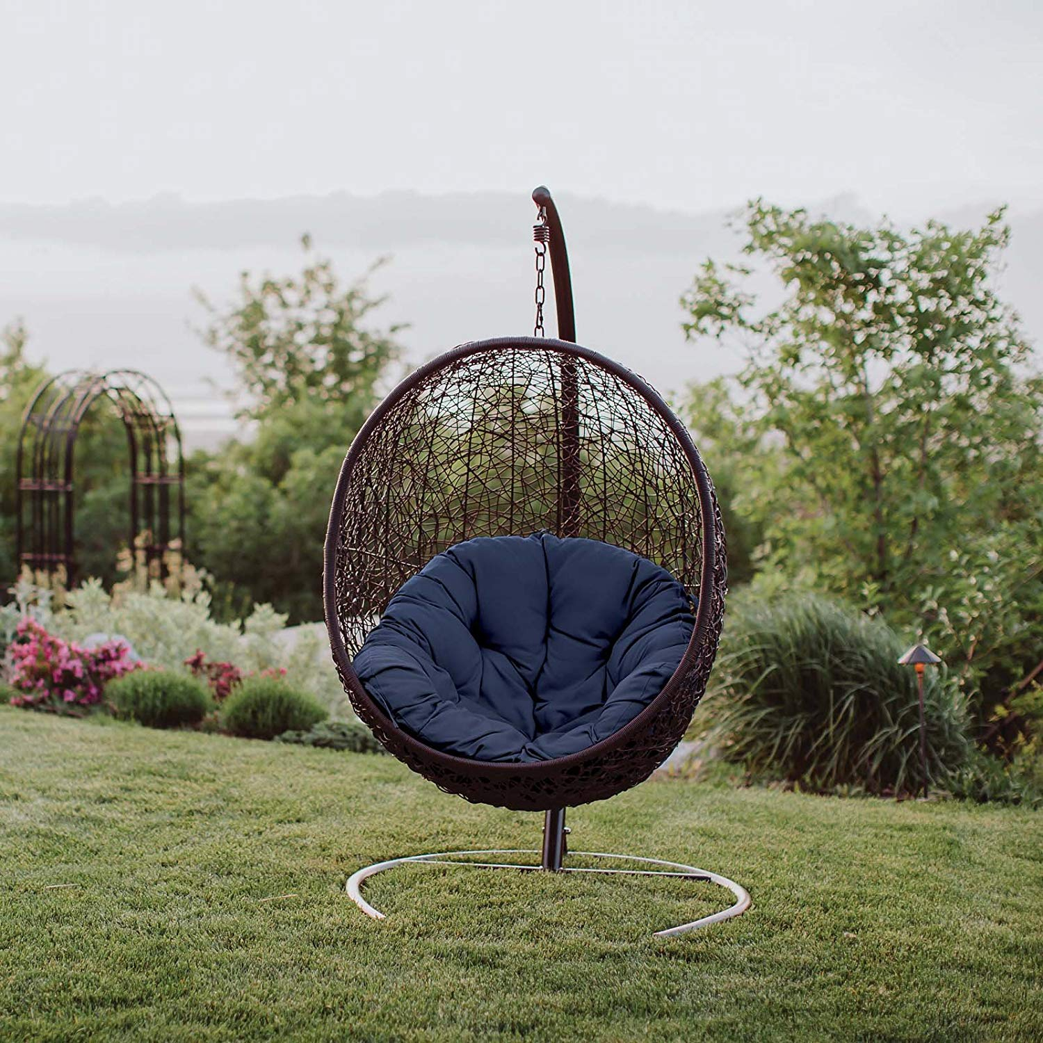 10 Best Egg Chairs Of 2020 (Review & Guide) – Thebeastreviews Inside Outdoor Wicker Plastic Tear Porch Swings With Stand (View 5 of 25)