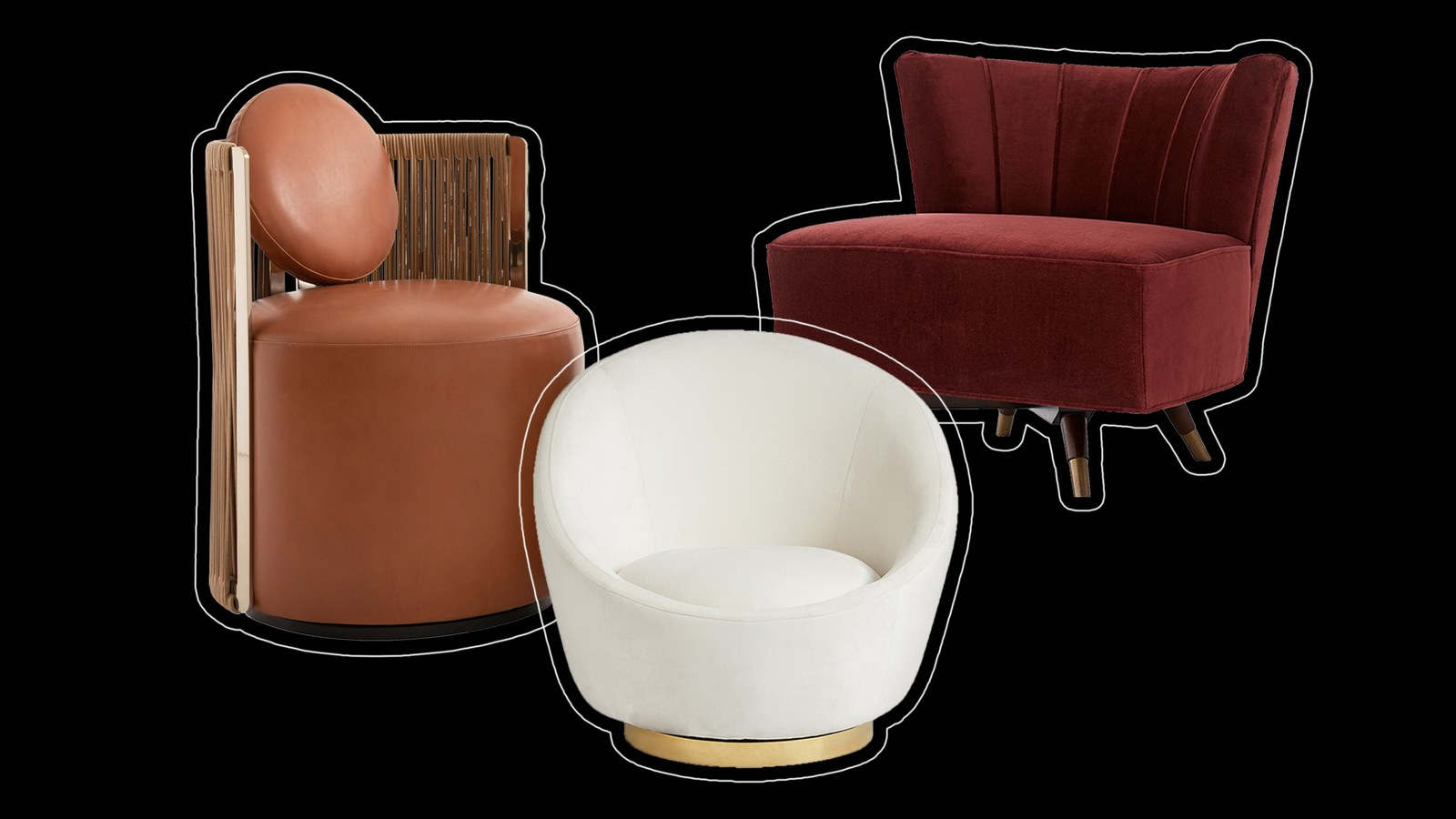 10 Swivel Chairs We're Loving Right Now – Architectural For Woven High Back Swivel Chairs (Image 2 of 25)