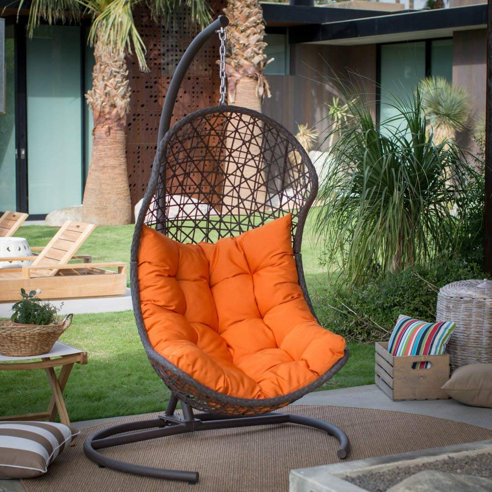 12 Best Hanging Egg Chairs To Buy In 2020 – Outdoor & Indoor With Outdoor Wicker Plastic Tear Porch Swings With Stand (View 12 of 25)